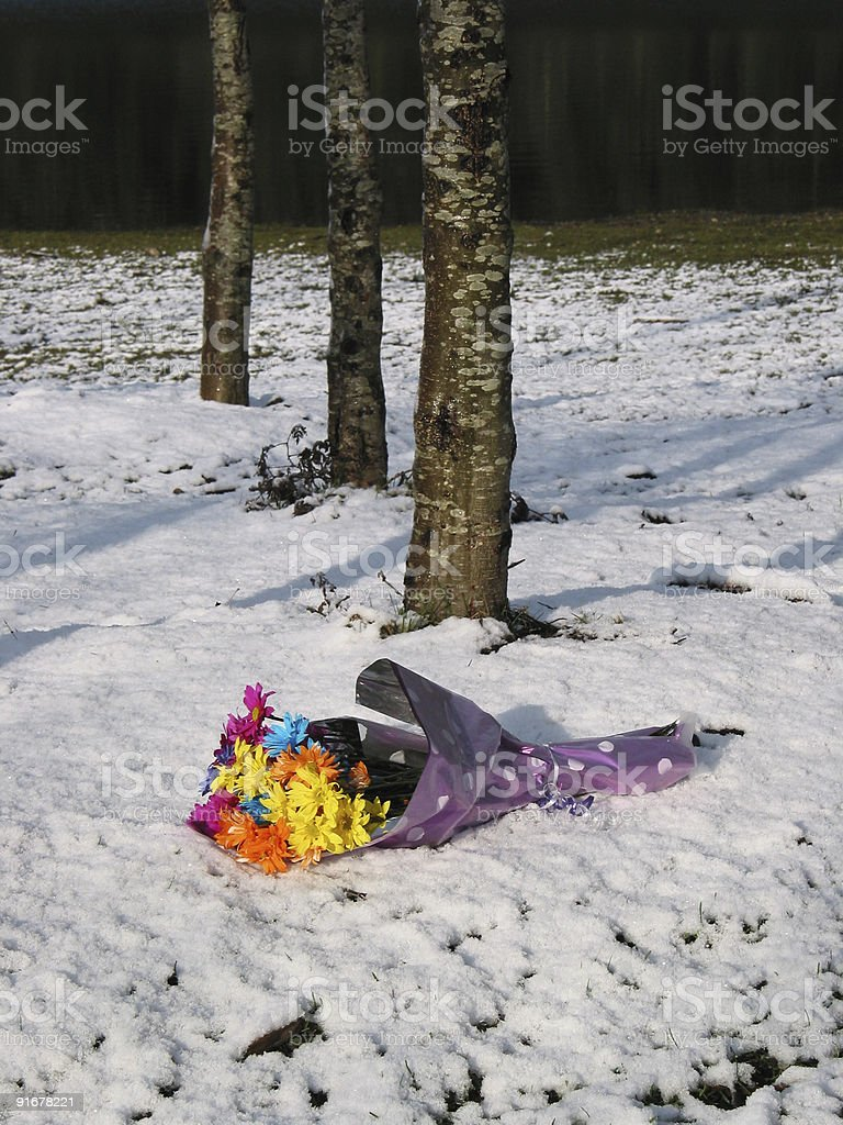Discarded Bouquet stock photo