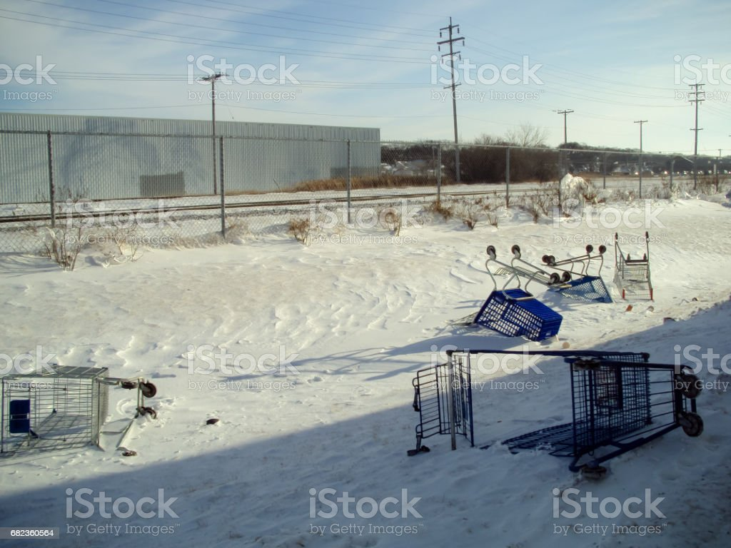 discarded carts royalty-free stock photo