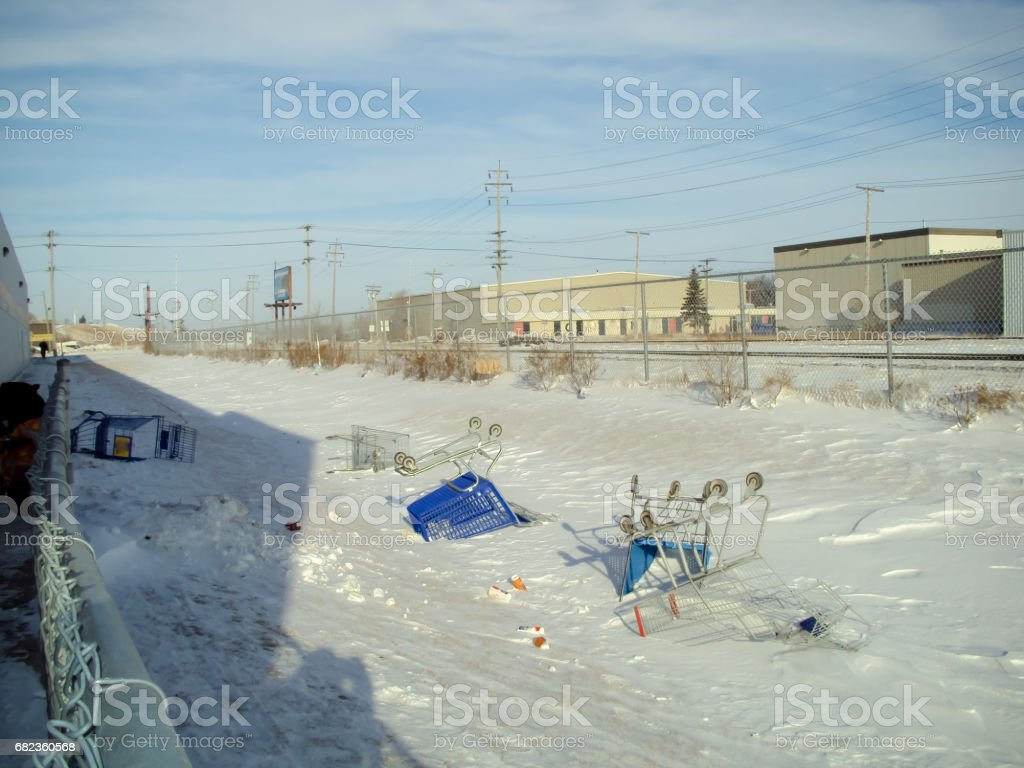 discarded carts foto stock royalty-free