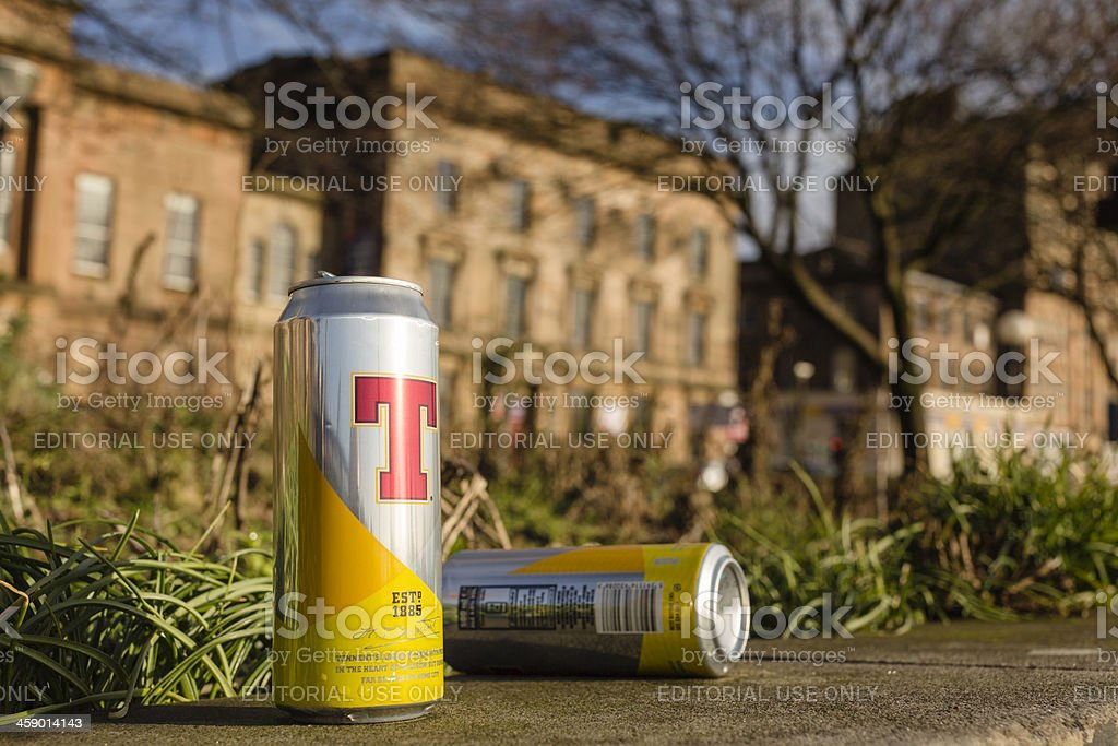 Discarded Lager Cans royalty-free stock photo