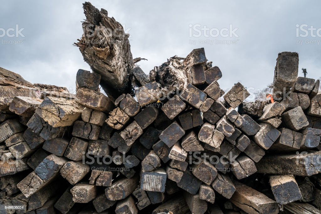 Discarded Railroad Ties Stock Photo & More Pictures of Canada - iStock