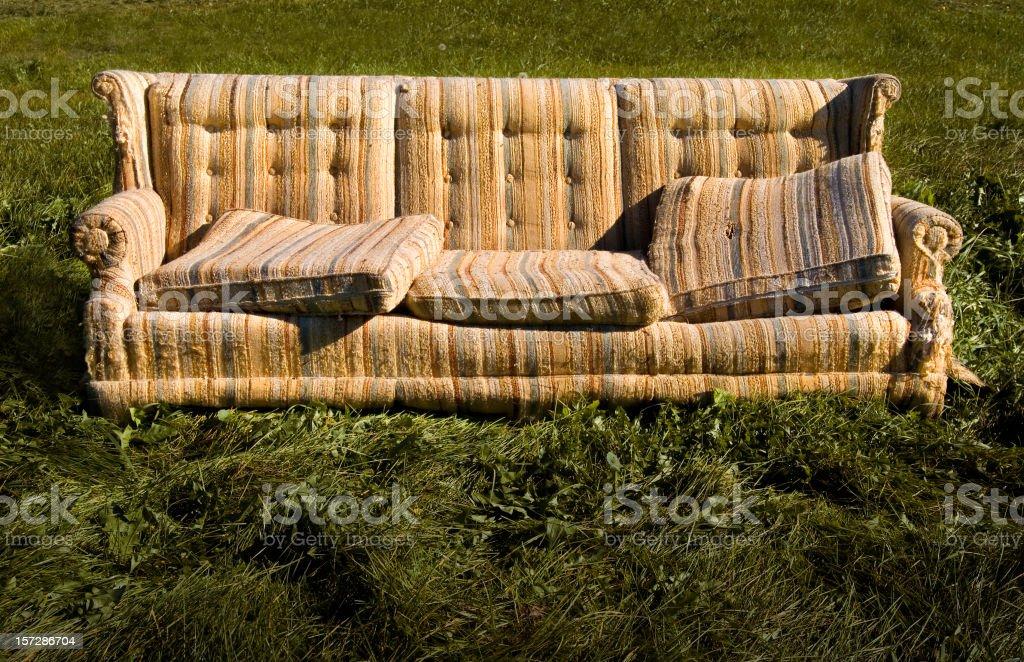 Discarded Sofa royalty-free stock photo
