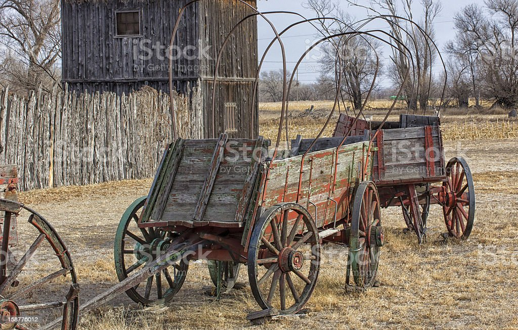 Discarded Wagon royalty-free stock photo