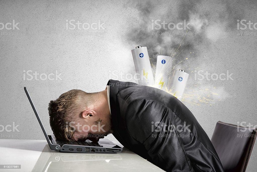 Discharged businessman bildbanksfoto