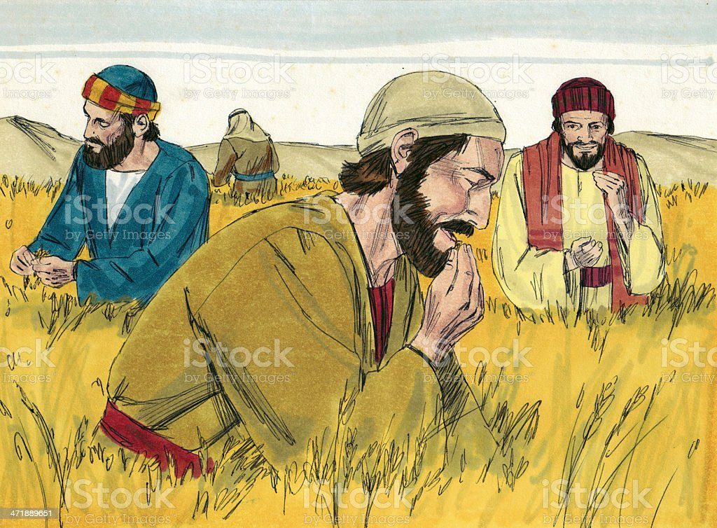 Disciples in the Field stock photo