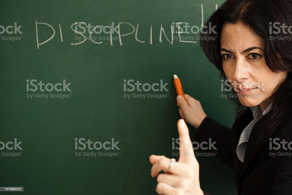 Discipline royalty-free stock photo
