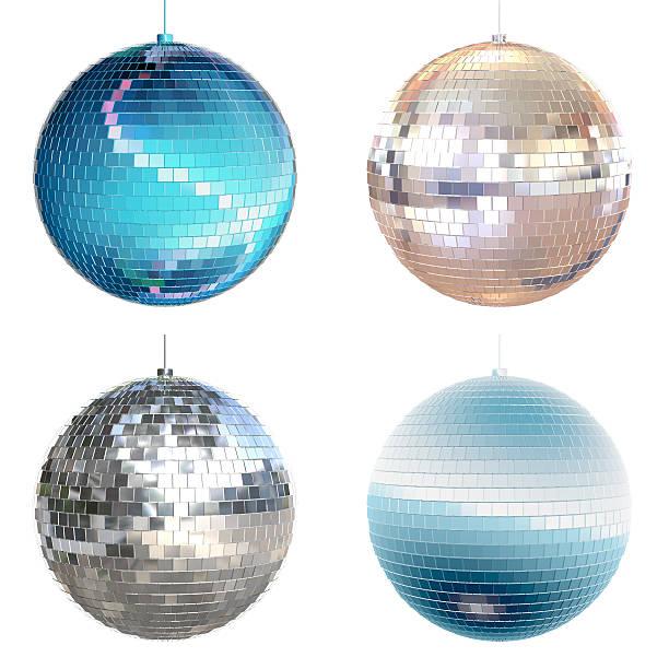 disco ball collection - disco ball stock pictures, royalty-free photos & images