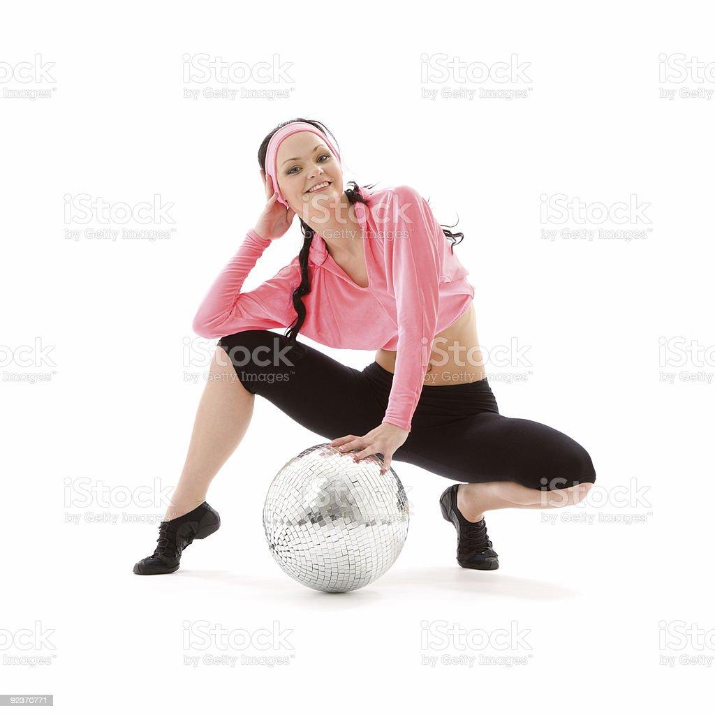 disco ball-Tänzer Lizenzfreies stock-foto