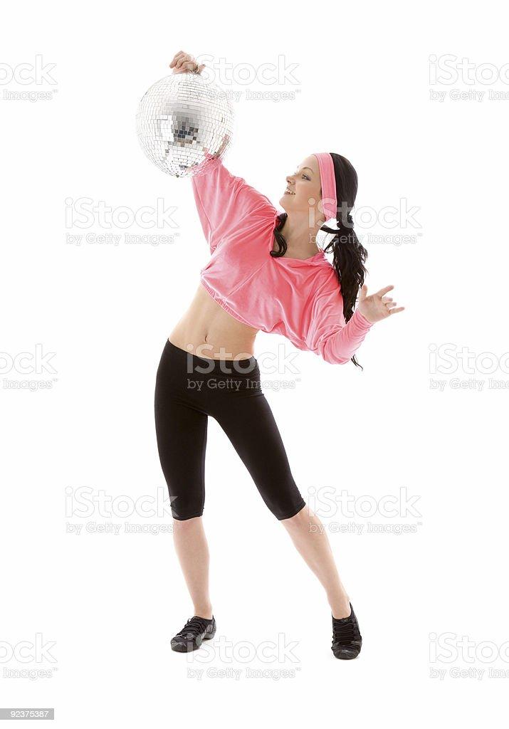 disco ball dancer royalty-free stock photo