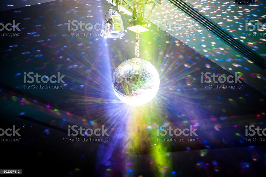 Disco Ball - Entertainment backgrounds stock photo