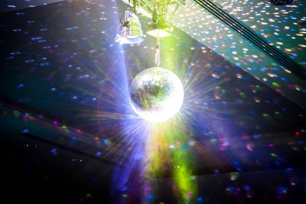 disco ball - entertainment backgrounds - disco lights stock photos and pictures