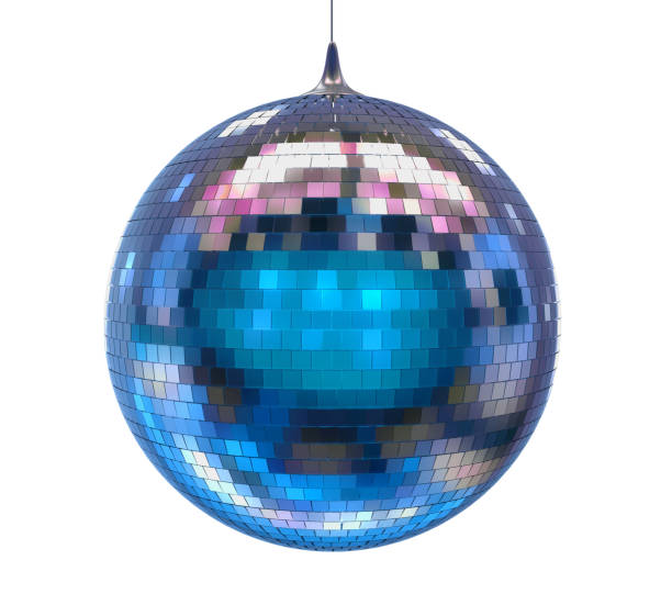 disco ball isolated - disco ball stock pictures, royalty-free photos & images