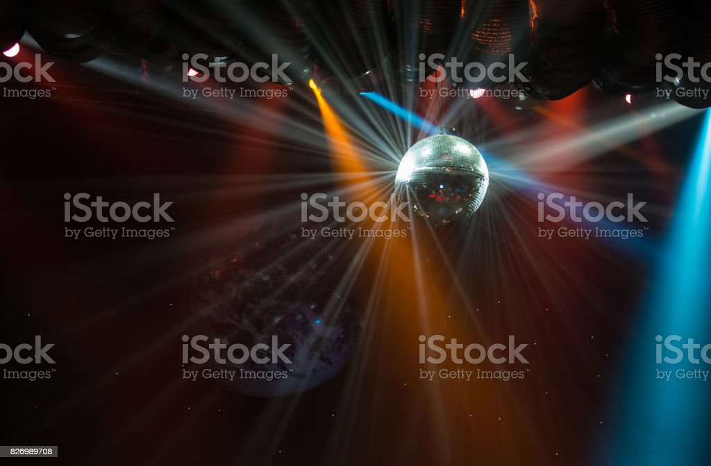 Disco ball light stock photo