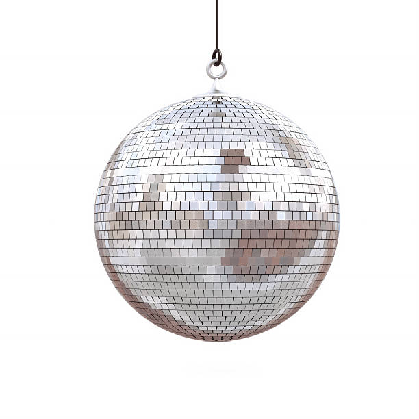 disco ball disco ball isolated on a white background. 3d render disco ball stock pictures, royalty-free photos & images
