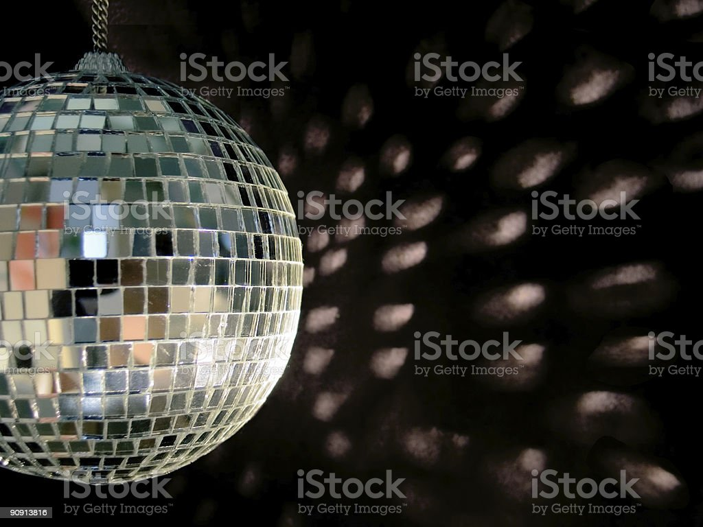 disco ball reflections royalty-free stock photo