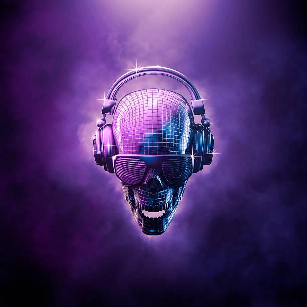boule disco crâne - dance music photos et images de collection