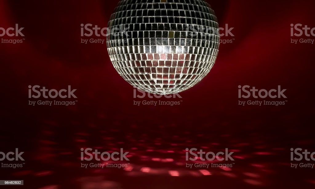 Disco ball with lights royalty-free stock photo