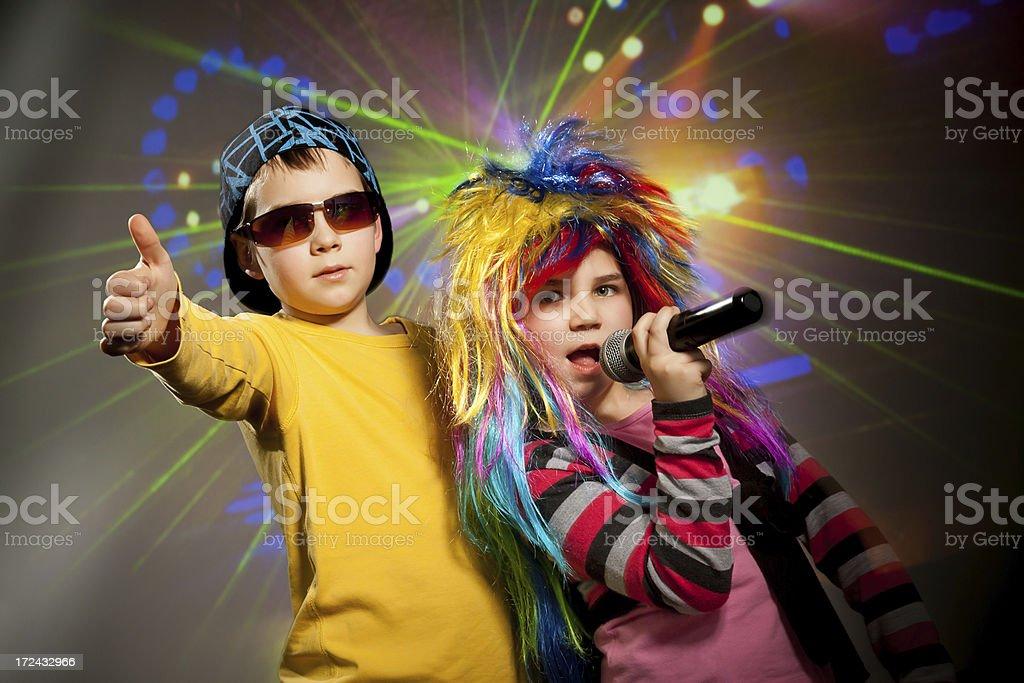 Disco children stock photo