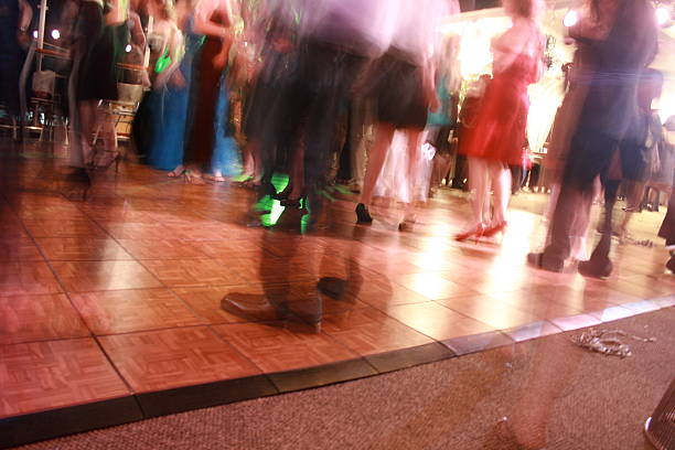 disco dance hall stock photo