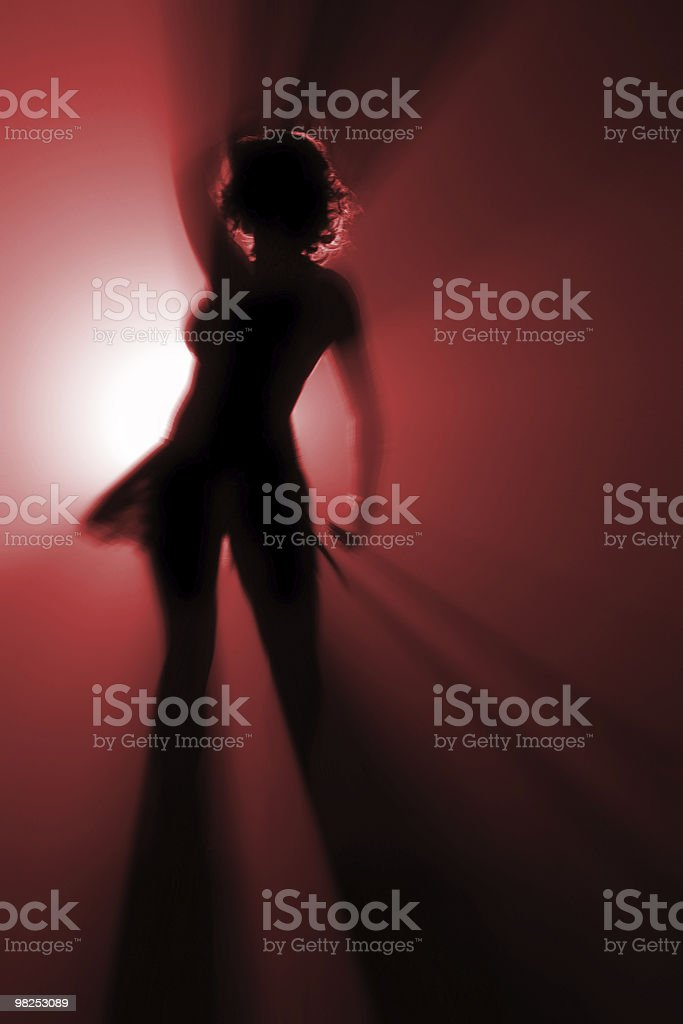 disco dancer in red color royalty-free stock photo