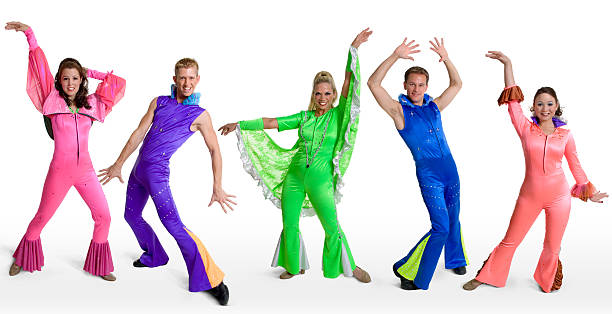 disco dancers - disco dancing stock photos and pictures