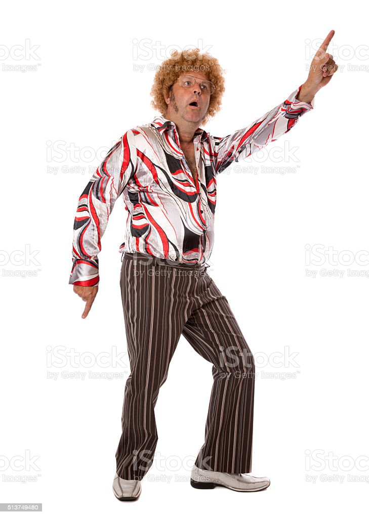 Disco Dancing Man stock photo