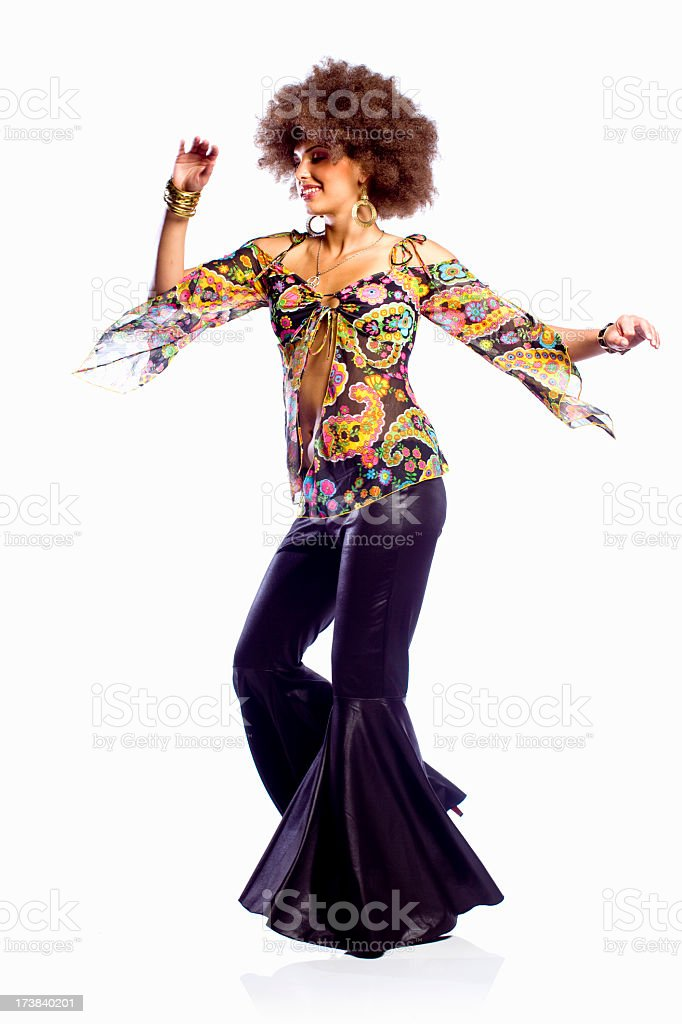 Disco Dancing Woman stock photo