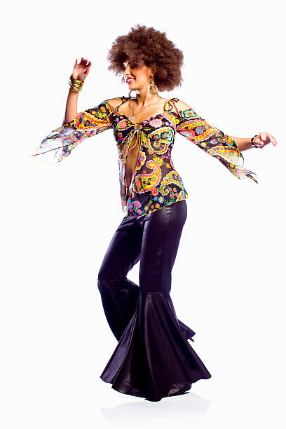 ディスコダンス女性 ストックフォト