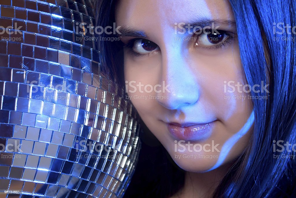 disco girl royalty-free stock photo