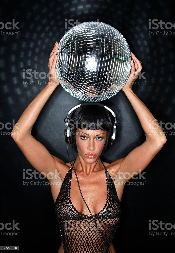 Disco glamour royalty-free stock photo