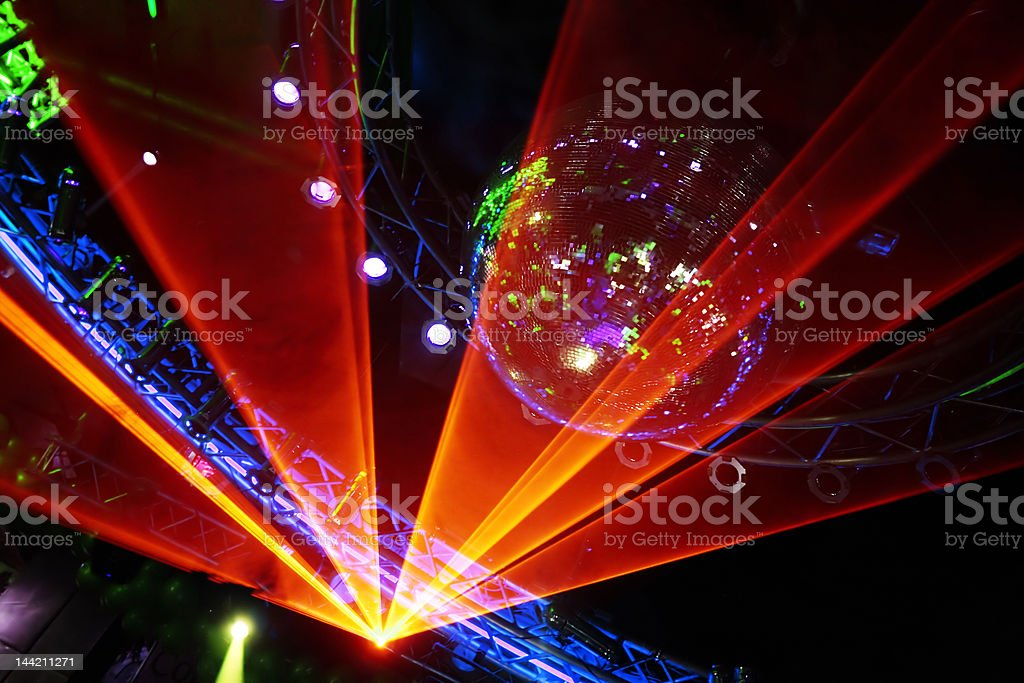 Disco Laser Show stock photo
