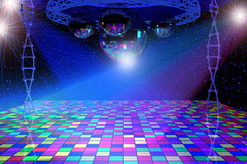 Disco Lights Background Stock Photo - Download Image Now