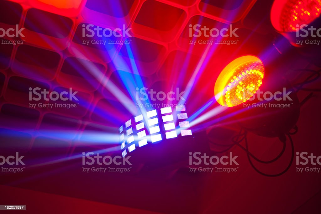 disco lights beams of light effects royalty-free stock photo