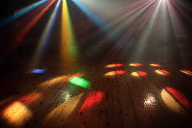 disco lights - disco lights stock pictures, royalty-free photos & images