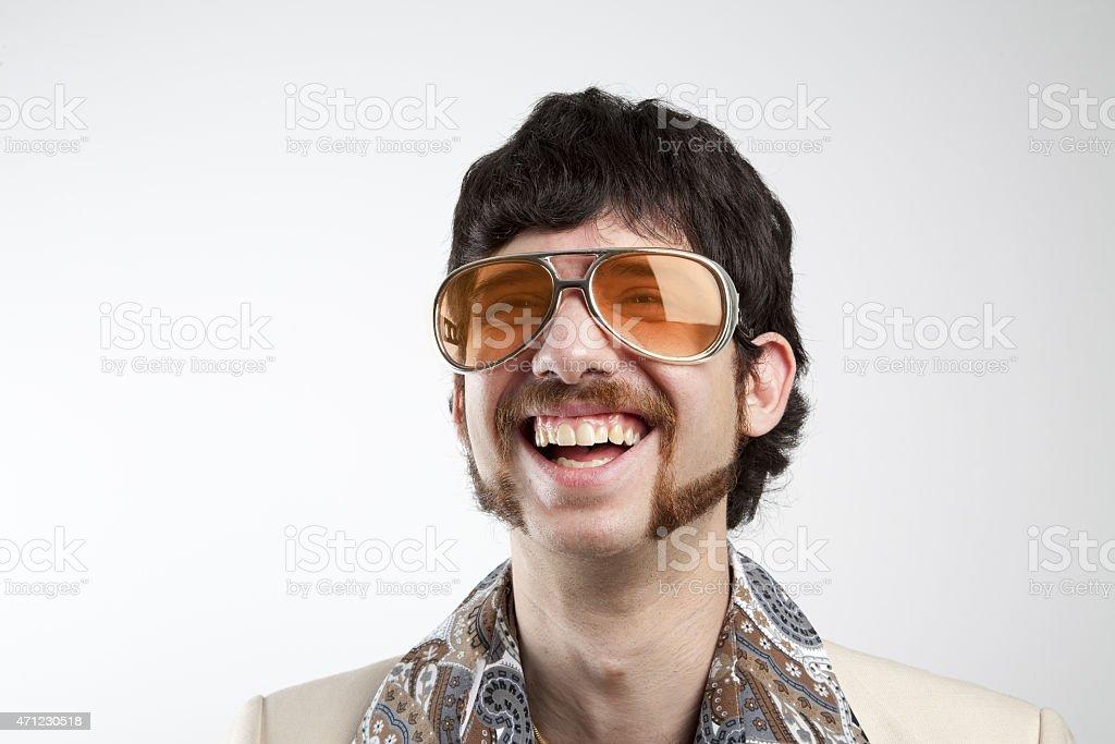 Disco Man Laughing stock photo