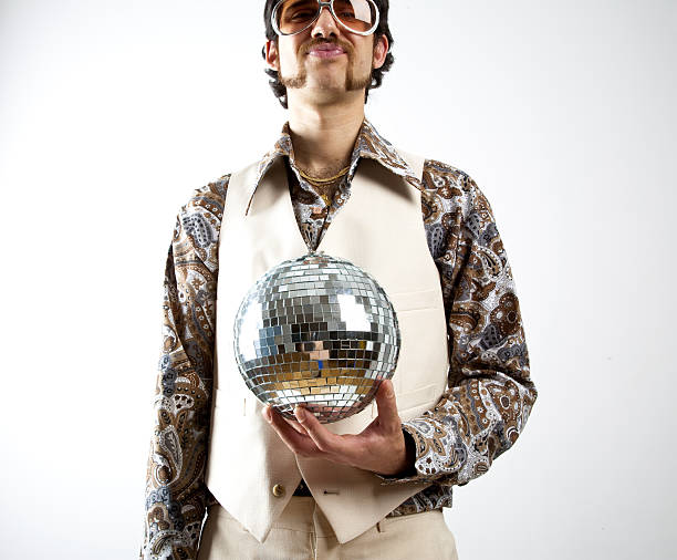 disco man - disco dancing stock photos and pictures