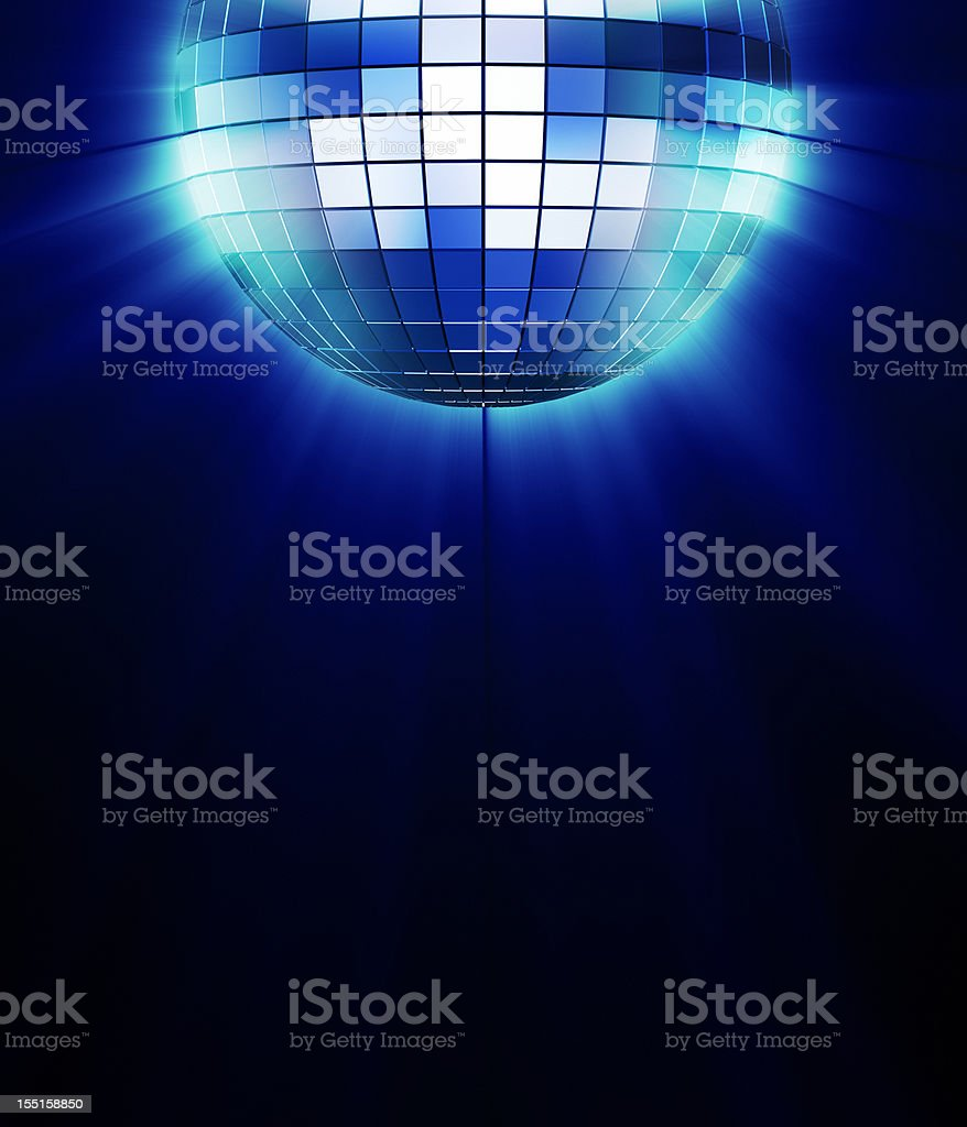 Disco mirror ball stock photo