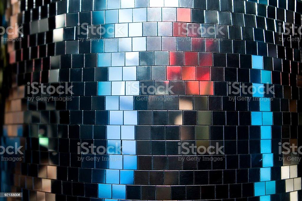 Disco mirror surface stock photo