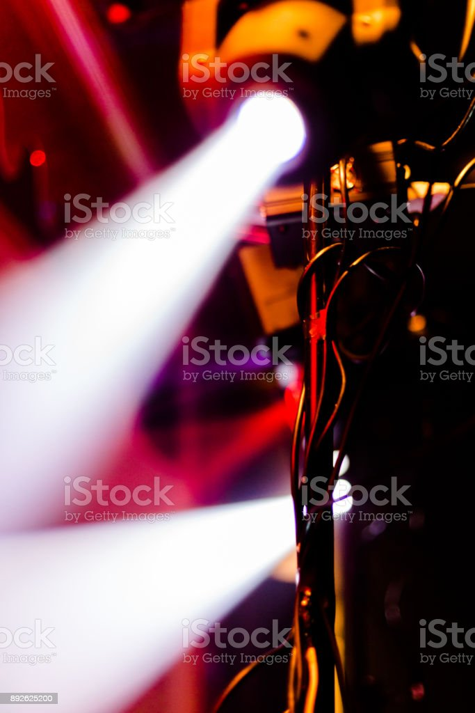 Disco party colourful light stock photo