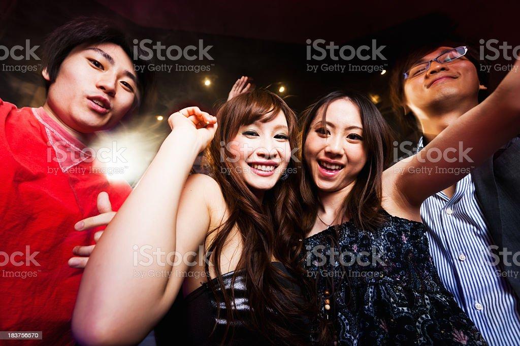 Fotografía de Discoteca Japonés Fiesta Young Girls And Boys Tokyo ...