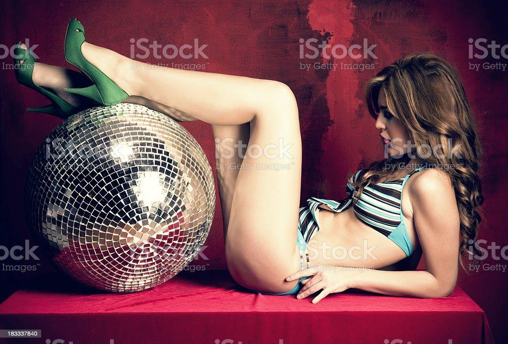 Disco Queen royalty-free stock photo