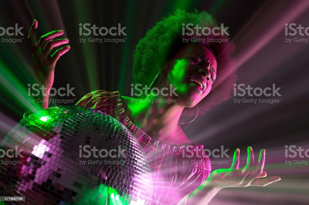Disco Queen stock photo