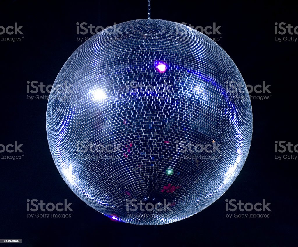 Disco sphere isolated on black royalty-free stock photo