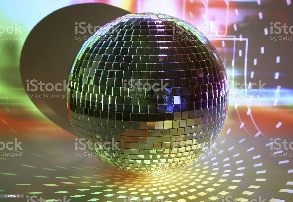 discoball lights royalty-free stock photo