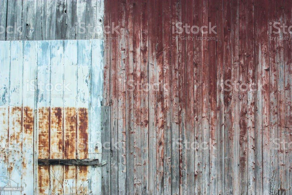 discolored door stock photo