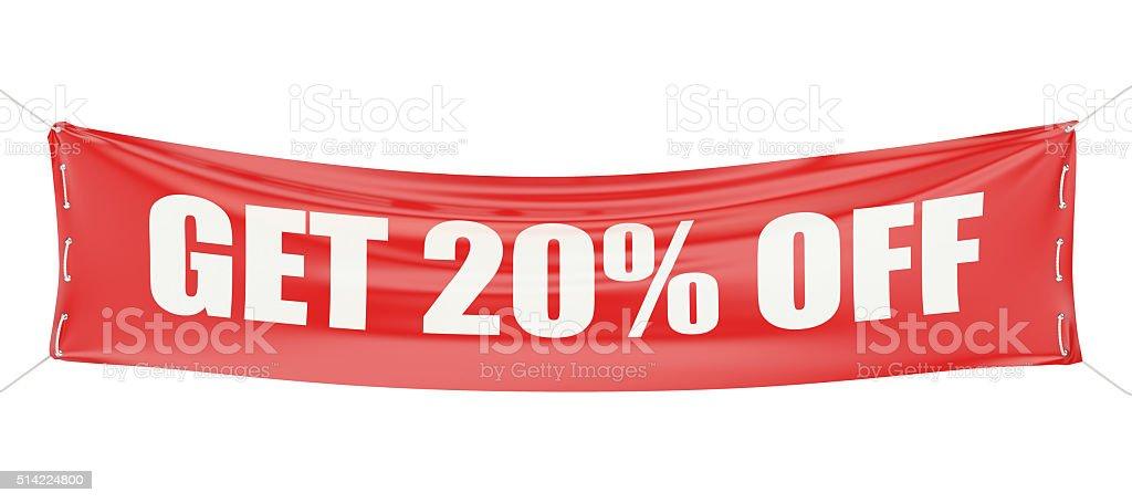 discount 20 %  concept stock photo