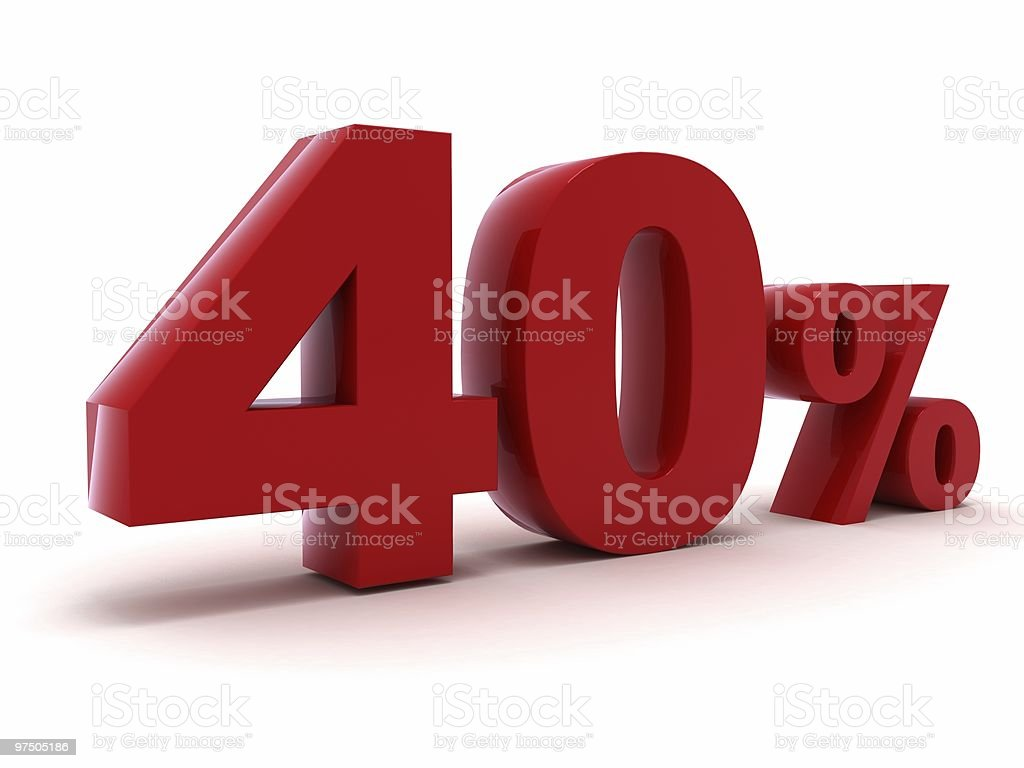 Discount 40% royalty-free stock photo