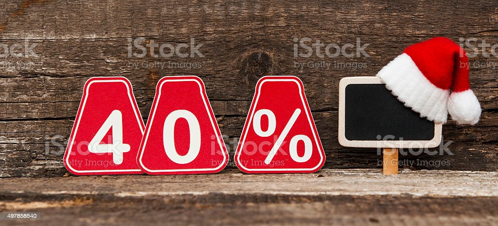 Discount at christmas stock photo