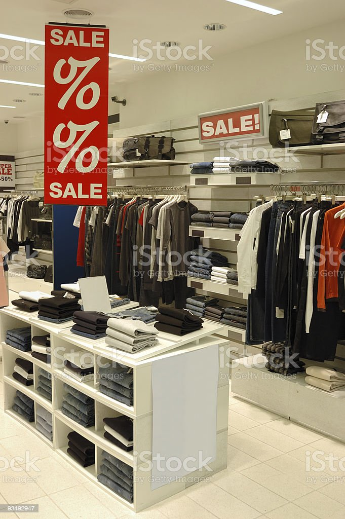 Discount at Shopping Mall royalty-free stock photo