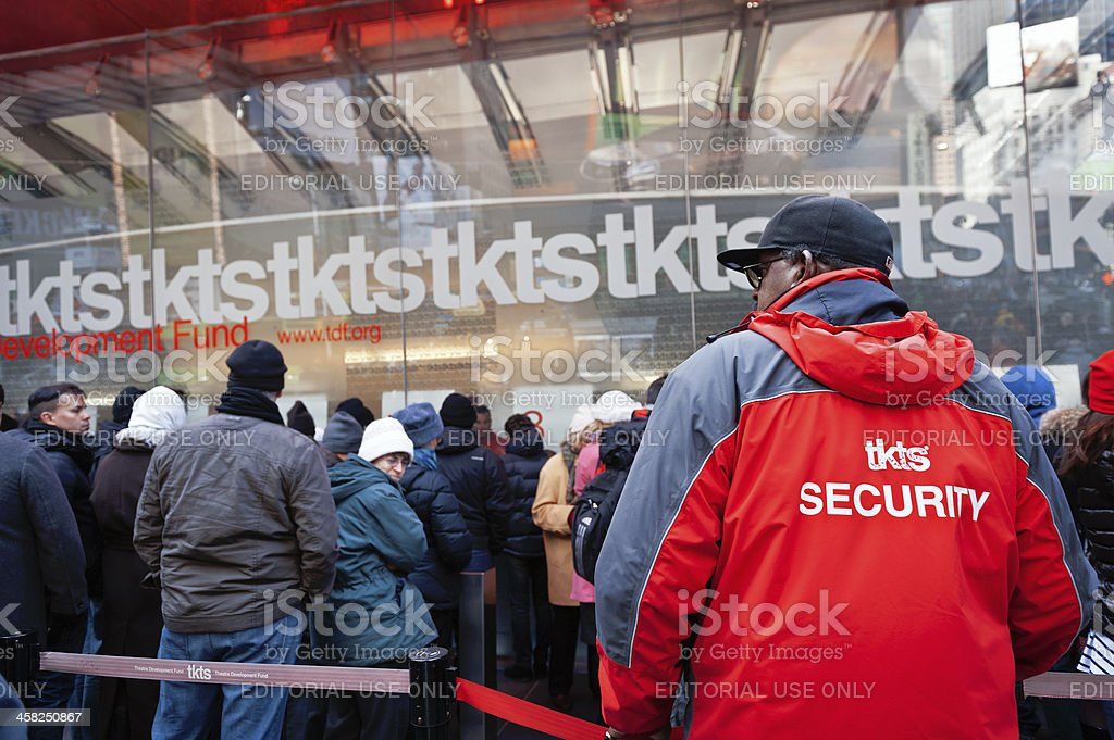 TKTS Discount Booth in Time Square stock photo